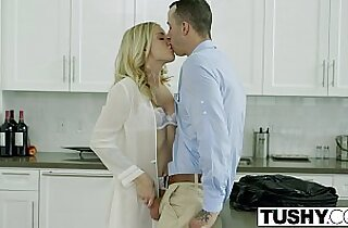 TUSHY Bosses Wife Karla Kush First Time ever Anal hardcore sex With Office Assistant