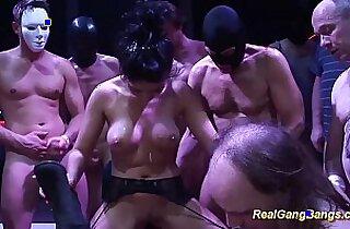 wild gangbang party orgy