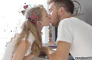 LustHD Blonde student teen fucks her boyfriend