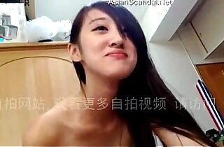 Chinese Girlfriend Sucking hard Cock and Begging to Fuck