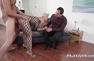 Milf Enjoys Hard Anal While Husband Watches