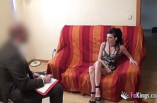 Doctor tries to cure sex addiction but he ends up having great fucking session with me