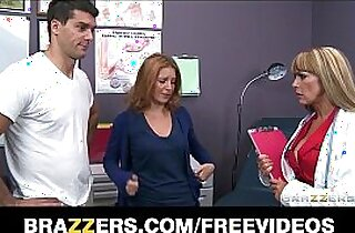 Busty big tit doctor Shayla Laveaux helps her paitent recover