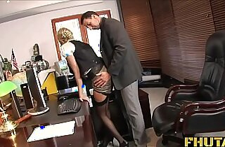 Fhuta Caught with finger pussy she gets fucked by the boss