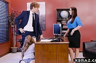 Office fuck with two bosses and a sexy employee
