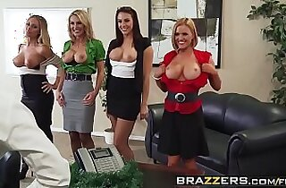 Big Tits at Work Office Play Christmas Edition scene starring Chanel Preston Krissy L