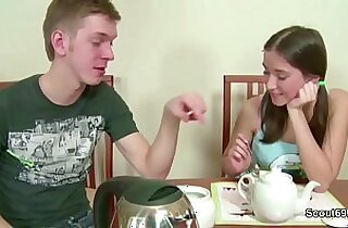 Bro Seduce Petite Step Sister Fuck and Creampie in Her