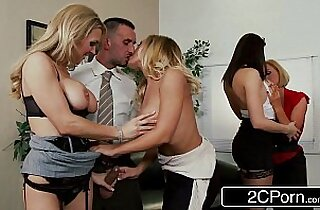 Christmas Office Orgy Chanel Preston, Krissy Lynn, Nicole Aniston, Tanya Tate