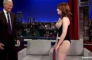 Tina Fey in Late Show on cam with David Letterman 2009 2015