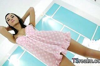 Asian Tgirl Aor Enjoys Herself Off