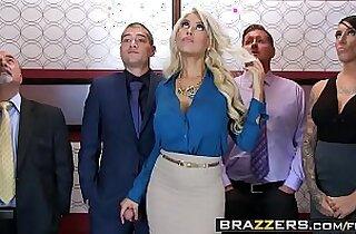 Big Tits at Work Bridgette B Xander Corvus Stuck In The Elevator