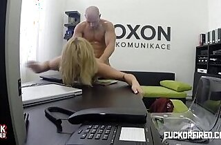 Horny fucks boss in the office