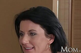 MOM mature olivia brings home a young hottie from the office