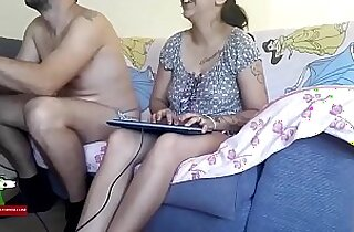 Playing video games and fucking on the sofa