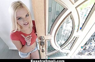 ExxxtraSmall Petite Blonde Conned and Fucked By Salesman