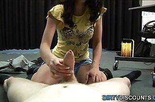 Brit babe pov spanking cock