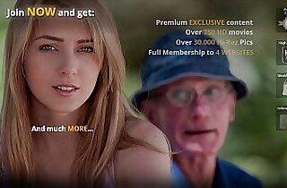 Debauched meet between old perv and young slut