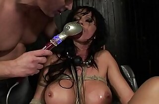 Under total domination. Humiliated bitch fucked and screwed painfully in her all holes.BDSM movie.Hardcore bondage sex.