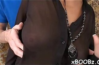 Dirty session by a hottie with melons