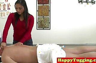 Real real asian masseuse jerks customer