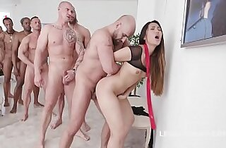 Asian Slut May Thai Gets Facialized in Gangbang