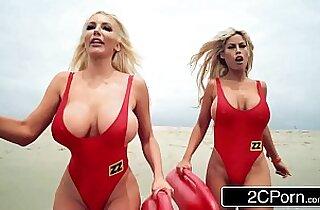 Baywatch XXX Parody Bridgette B, Nicolette Shea