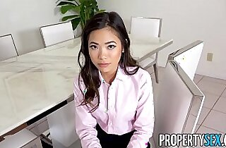 PropertySex Hot petite Asian real estate agent fucks her boss