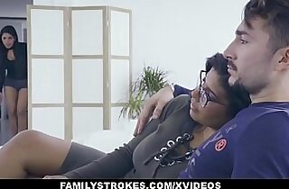 FamilyStrokes Hot Latin Twin Sisters Compete For Cock