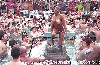 dantes pool wet tshirt pole contest during fantasy fest 2013