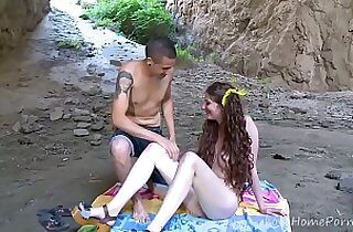Young Girl Gets Corrupted At The Beach