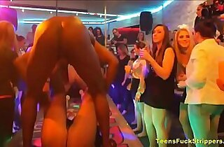 Genuine Wives Girlfriends Turn Slutty At CFNM Party