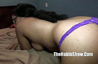 18yr light skined synamon mixed phat booty banged by hairy arab