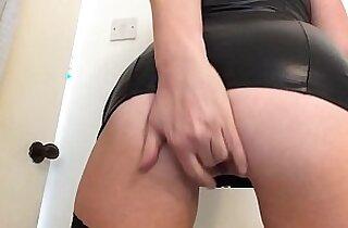 Cumming hard in my new sexy black dress