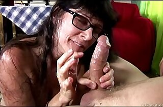 Cock hungry old spunker sucks fucks for a mouthful of cum