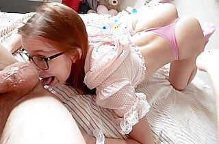 Innocent looking teen turned nasty anal therapy and piss in mouth